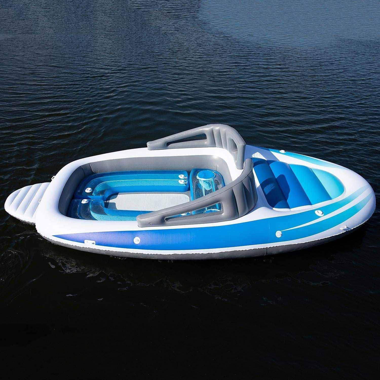 Aufblasbares Sportboot als chillige Badeinsel aufblasbares-sportboot-badeinsel_02