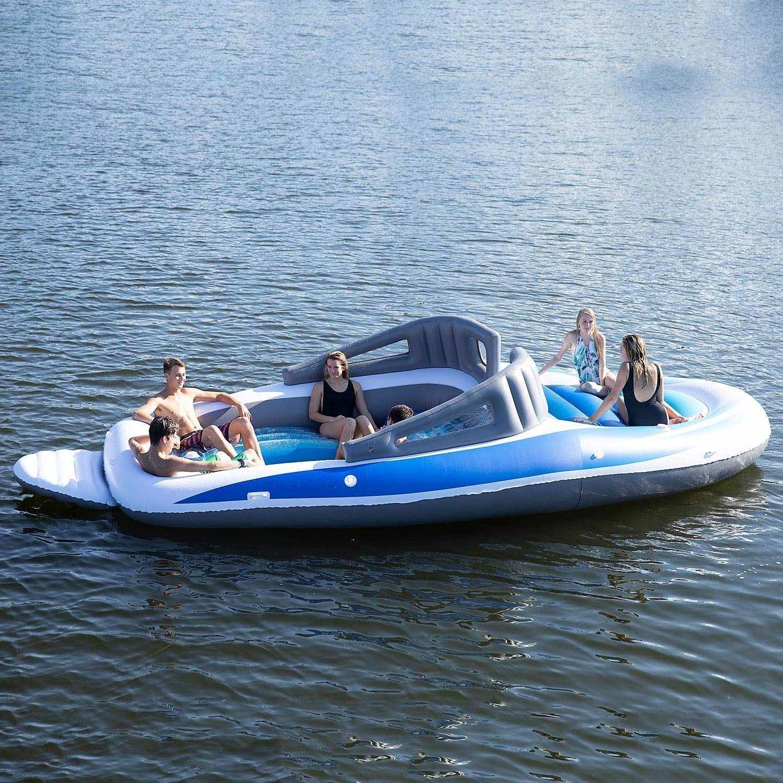 Aufblasbares Sportboot als chillige Badeinsel aufblasbares-sportboot-badeinsel_04