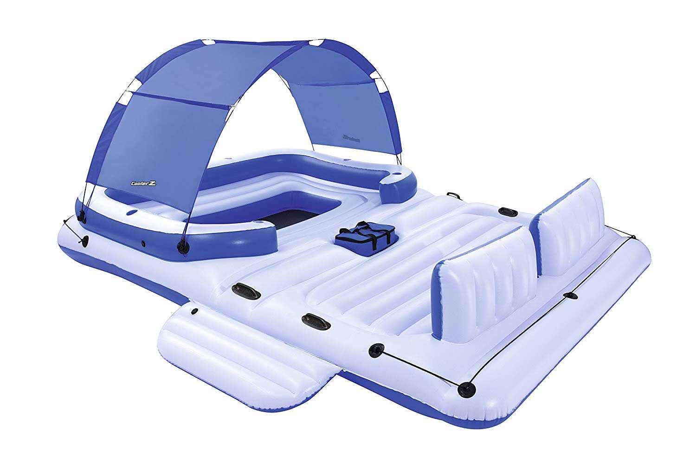 Aufblasbares Sportboot als chillige Badeinsel aufblasbares-sportboot-badeinsel_06