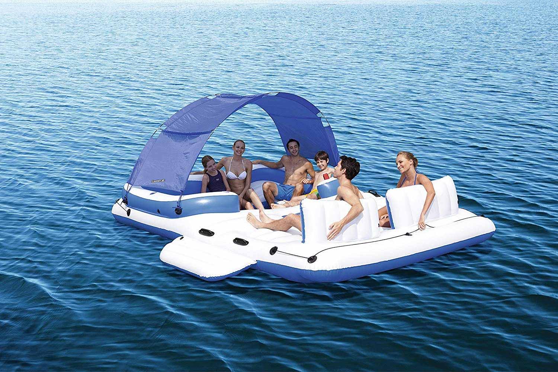 Aufblasbares Sportboot als chillige Badeinsel aufblasbares-sportboot-badeinsel_07