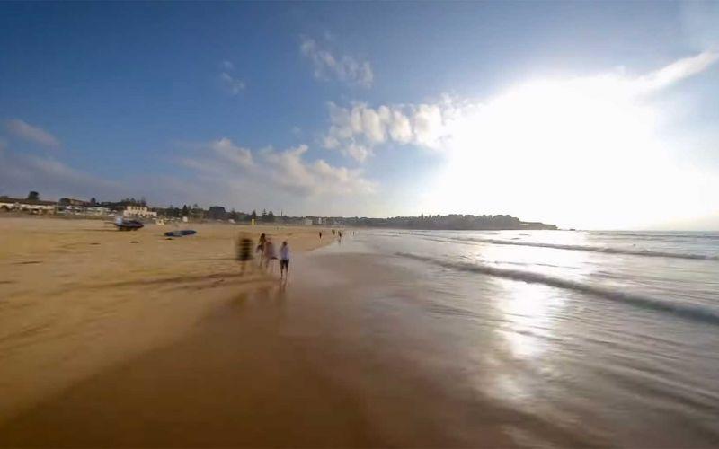 80 Kilometer Strandspaziergang in 5 Minuten