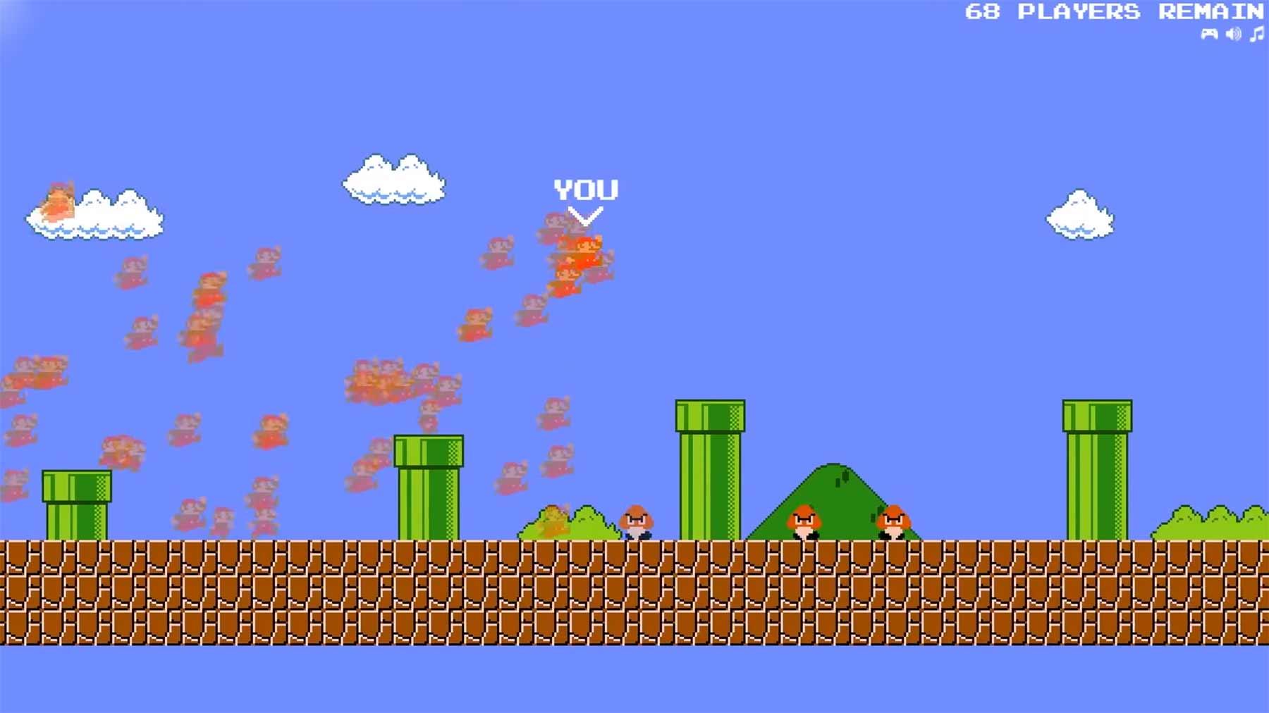 Mario Royale: 75 Spieler gegeneinander im Wettrennen