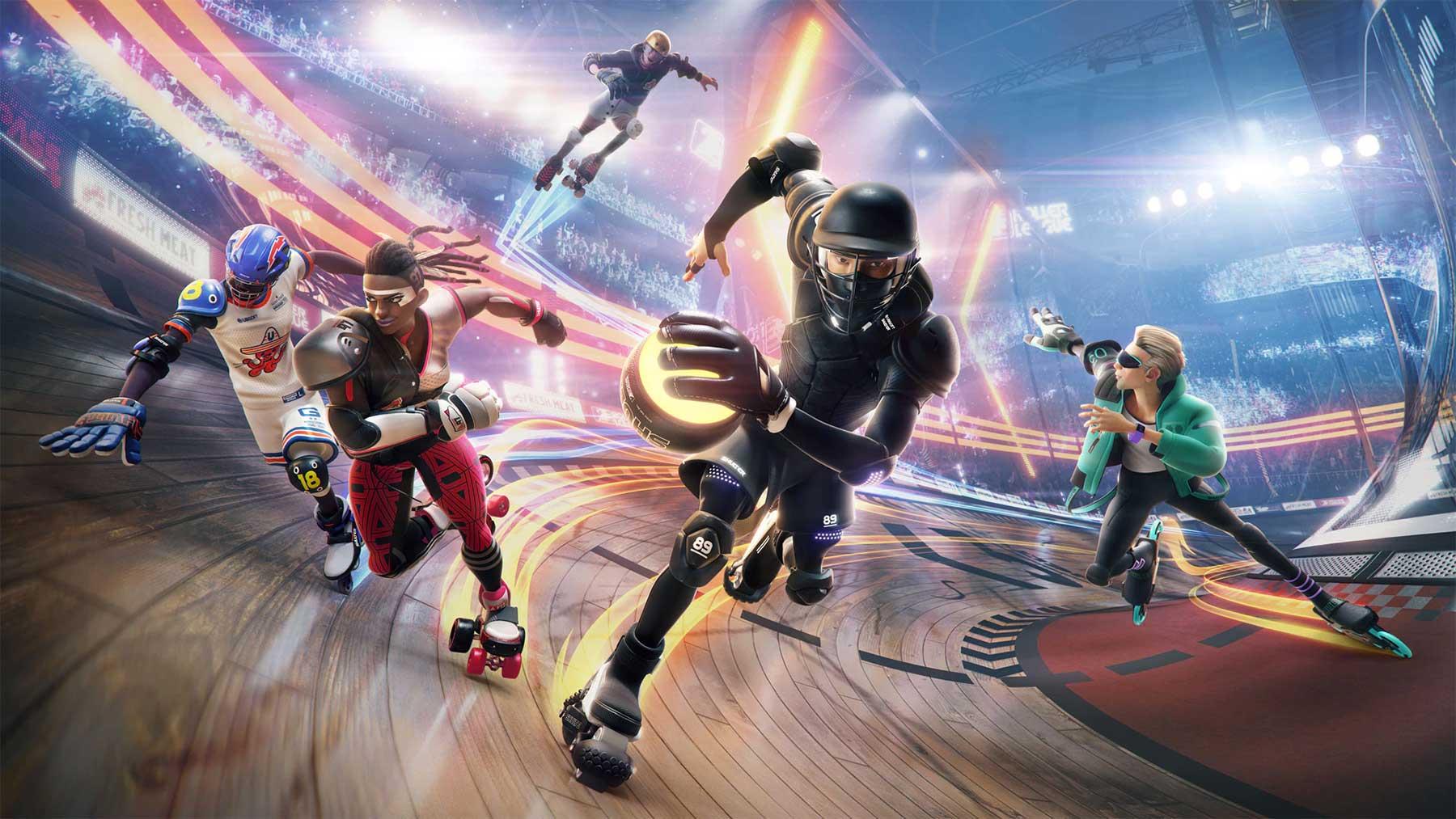 """Sportliches Gekloppe gibt es im Videospiel """"Roller Champions"""""""