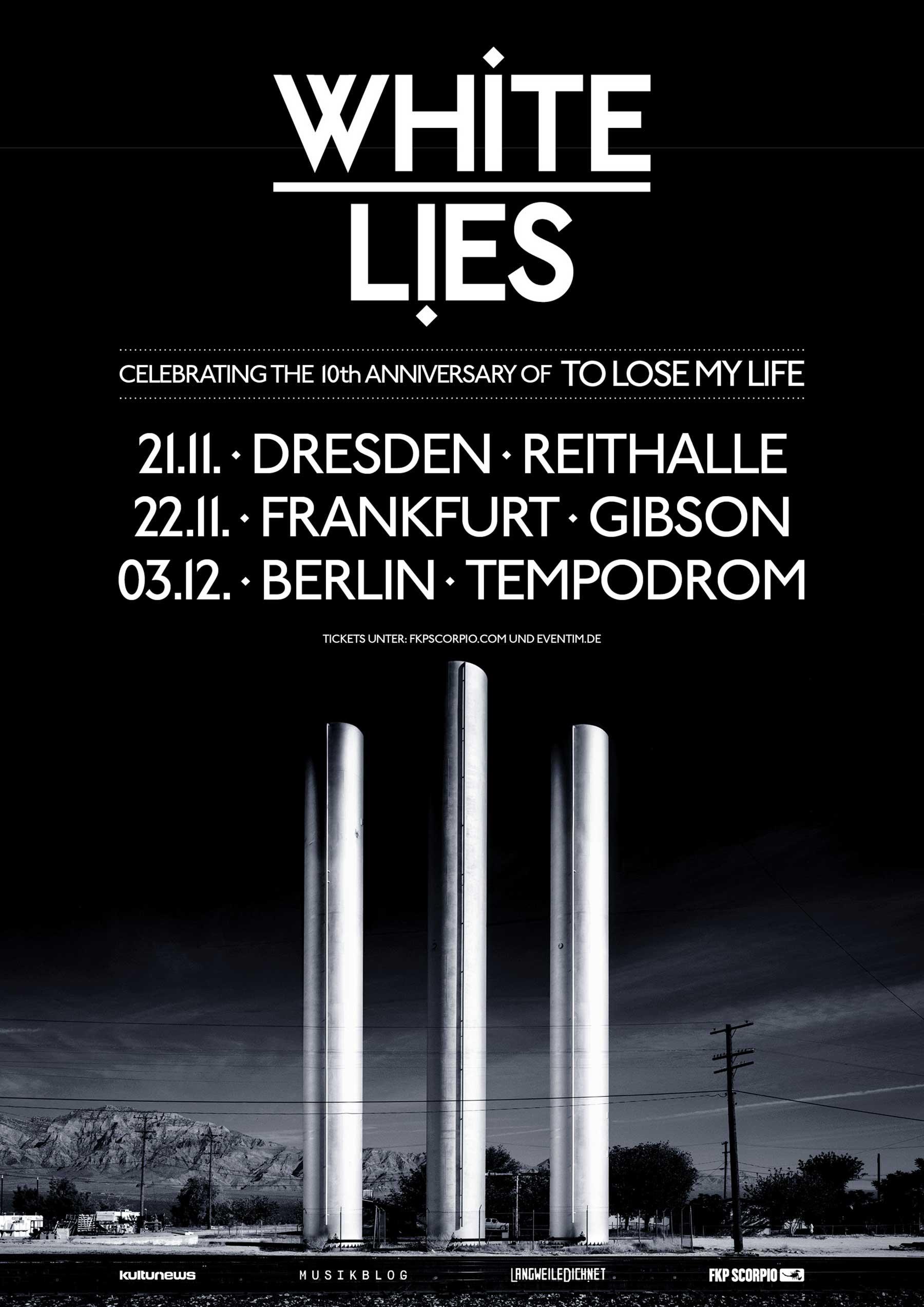 LwDn präsentiert: White Lies auf Deutschland-Tour im Herbst 2019 White-Lies-Tourplakat-2019
