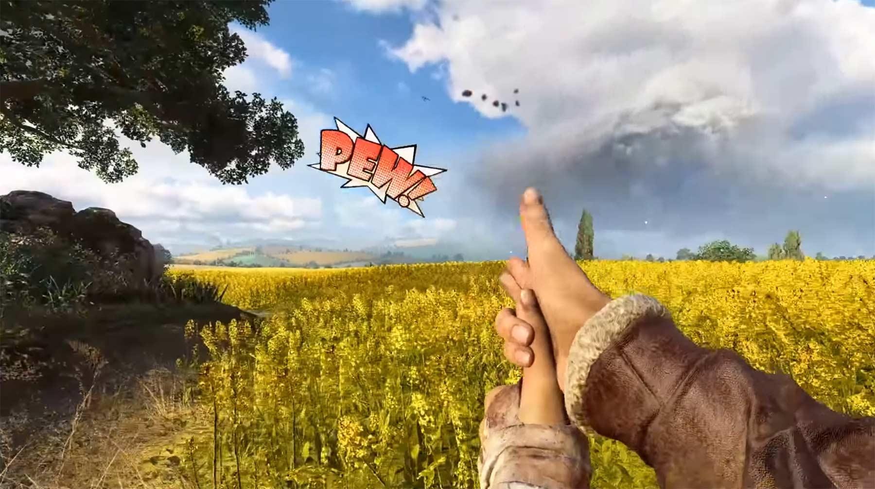 """In """"Battlefield V"""" kann man mit einer Fingerpistole schießen battlefield-v-fingerpistole"""