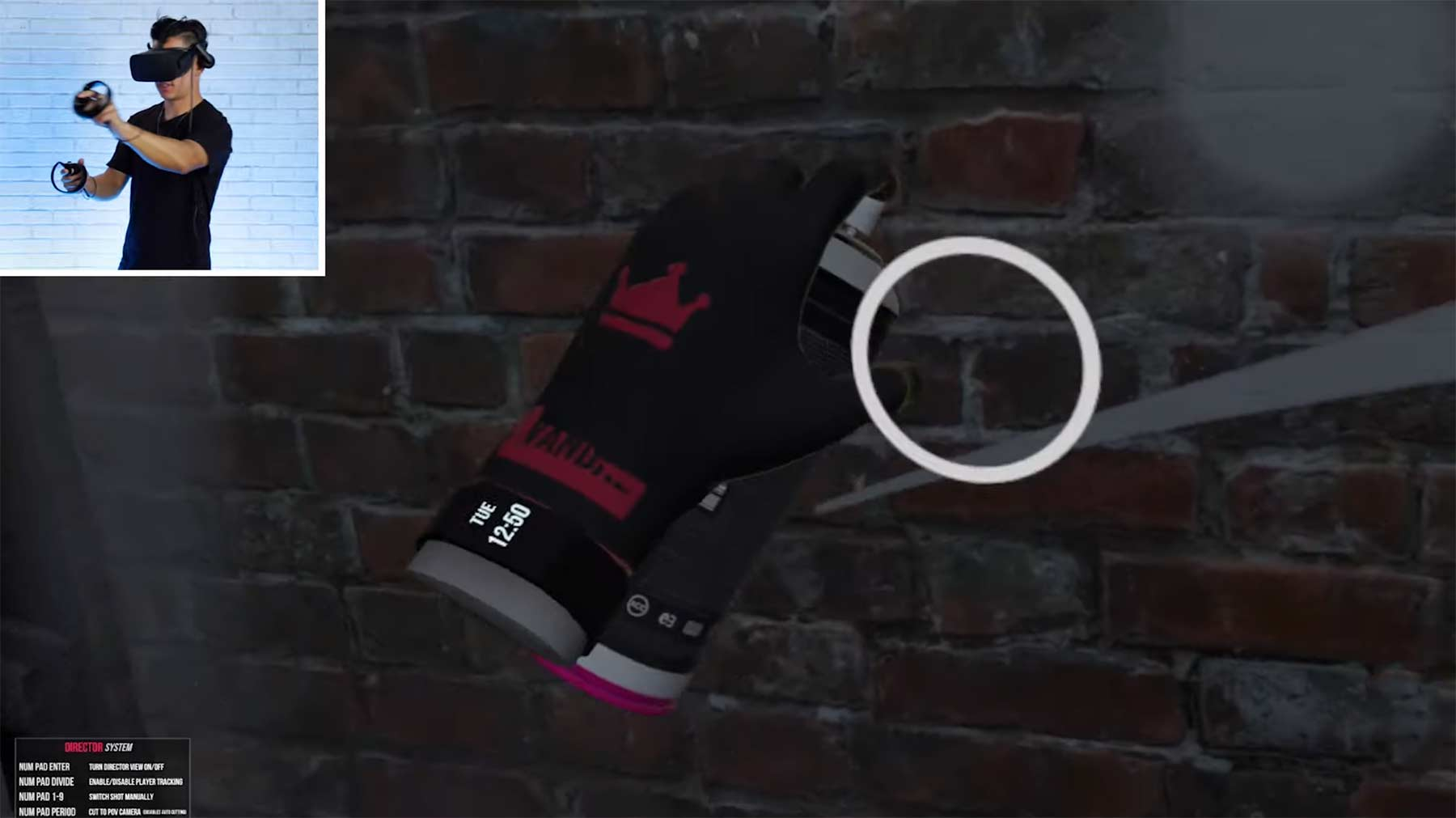Graffiti Artist spielt VR Graffiti Simulator