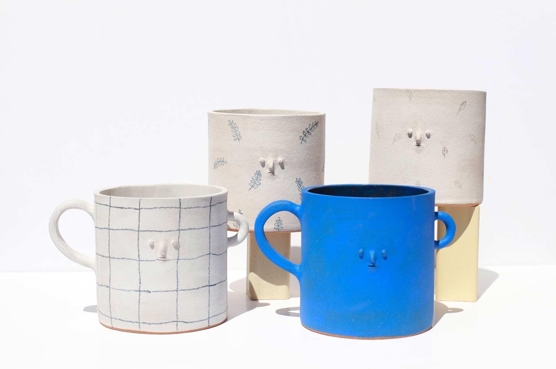 Keramikware mit Miniatur-Gesichtern keramik-mit-gesichtern-rami-kim_01