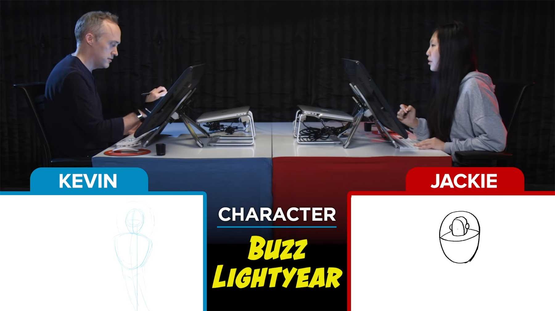 Zeichner versuchen Pixar-Figuren aus der Erinnerung raus zu malen