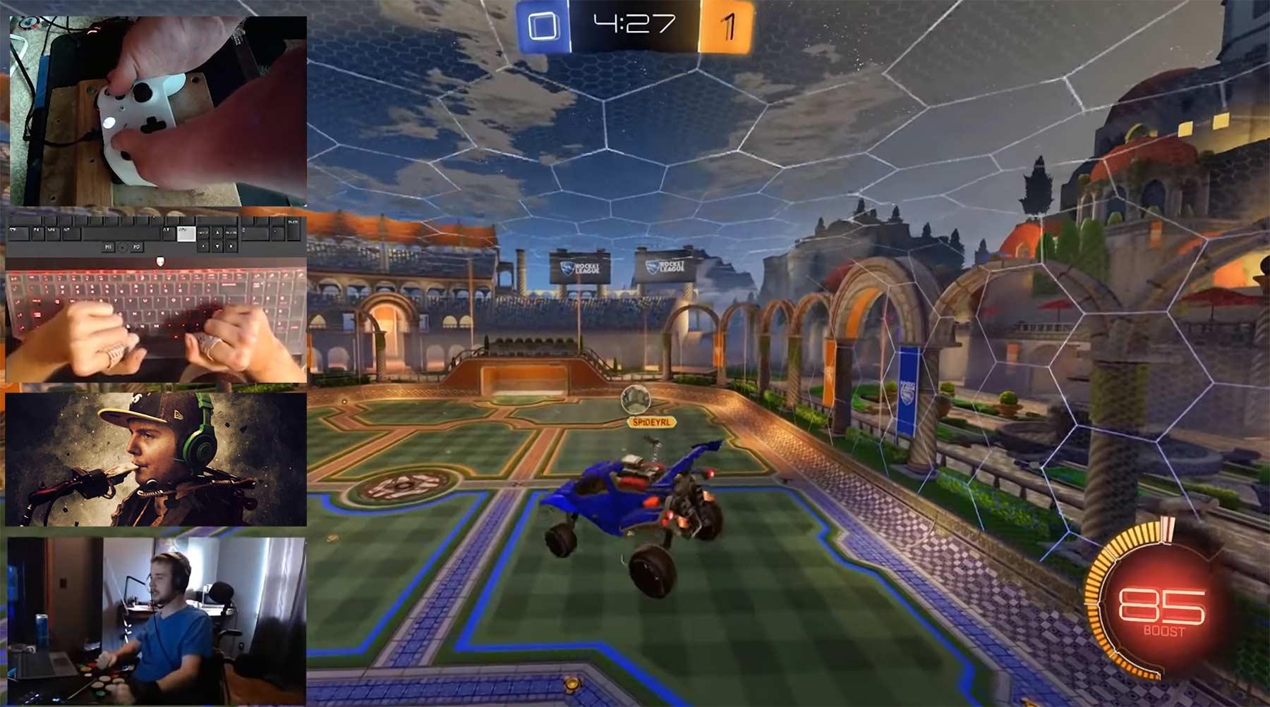 Rocket League: 4 Behinderte gegen 2 Champions