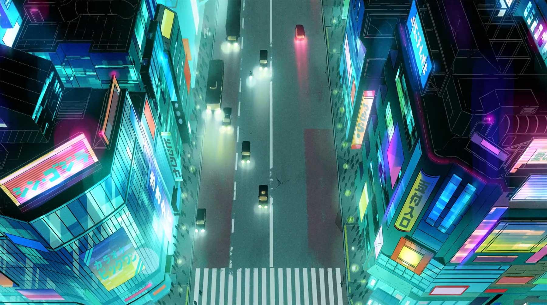 Cool animierter Kurzkurzfilm: Shibuya (Ghost II)