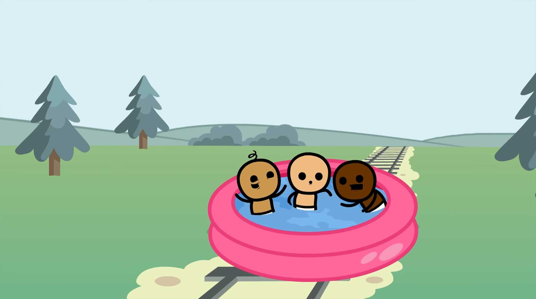 "Neues Kartenspiel von Cyanide & Happiness: ""Trial By Trolley"" trial-by-trolley-cyanide-and-happiness-kartenspiel-kickstarter"