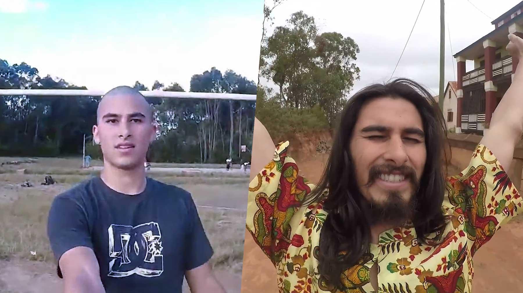 Timelapse: Mann lässt 2 Jahre lang Haare seine wachsen