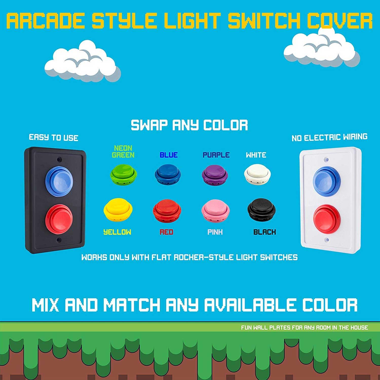 Dieses Verkleidung macht Arcade Buttons aus Lichtschaltern Arcade-buttons-lichtschalterverkleidung_04