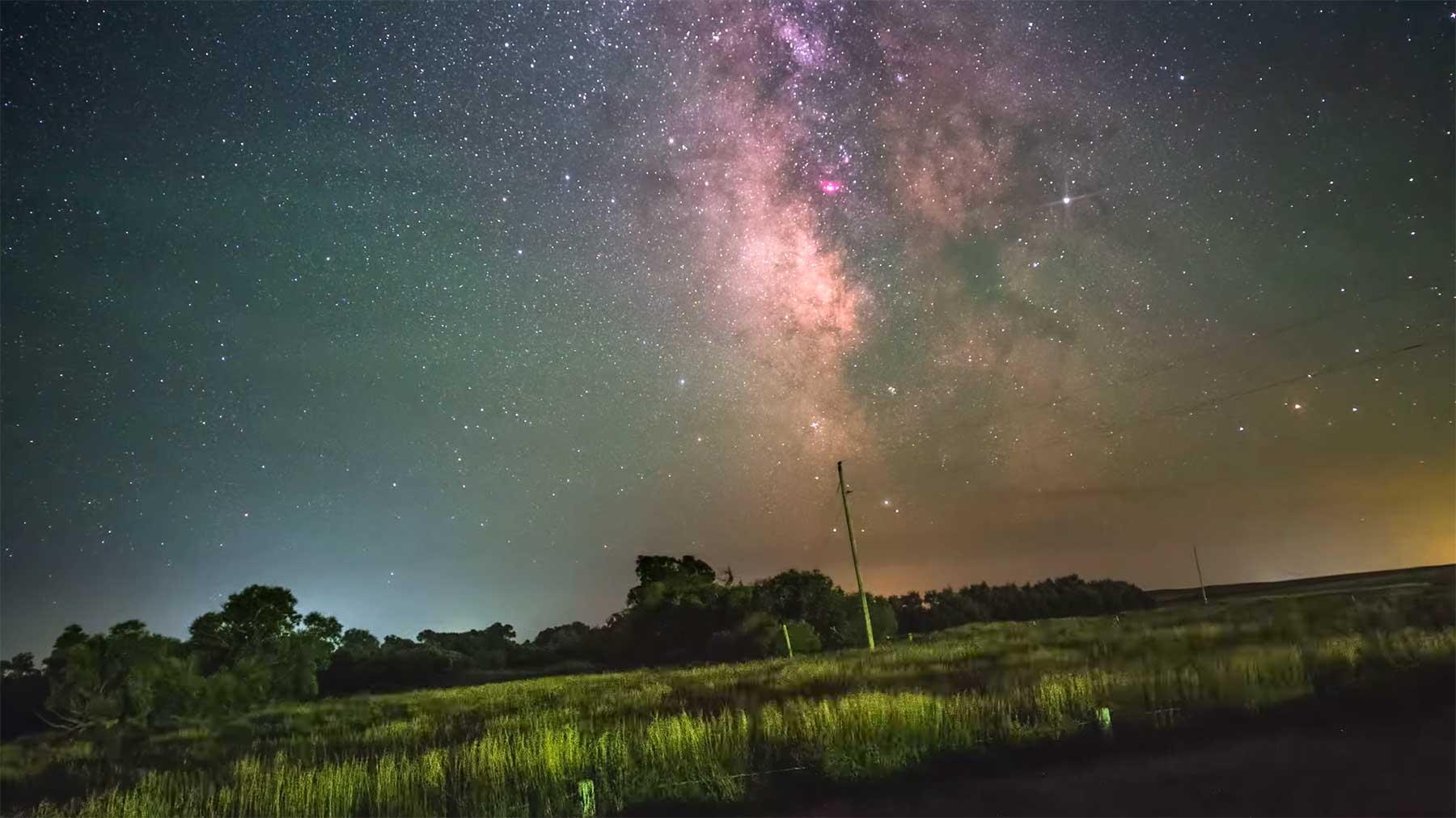 Erddrehungs-Visualisierung durch Milchstraßen-Stabilisierung