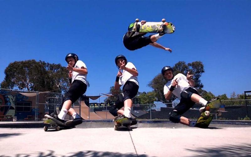 Verrückte Skateboarding-Collage von Cy Kuckenbaker