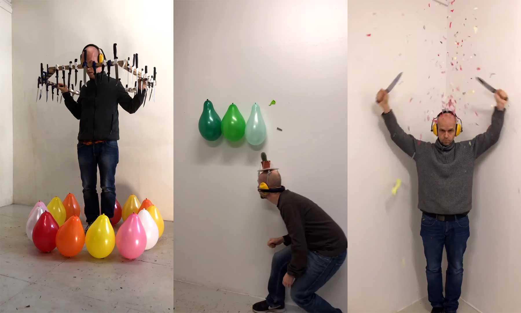 Originelle Wege, Luftballons zum Platzen zu bringen balloon-mayhem