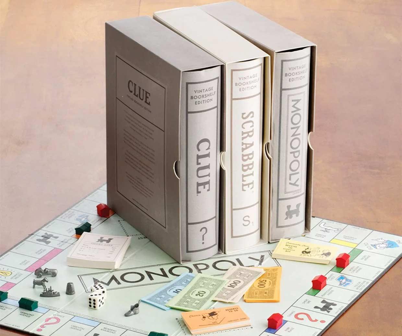 Brettspiel-Klassiker in Buchform brettspiele-in-buchform-vintage-bookshelf-edition_01
