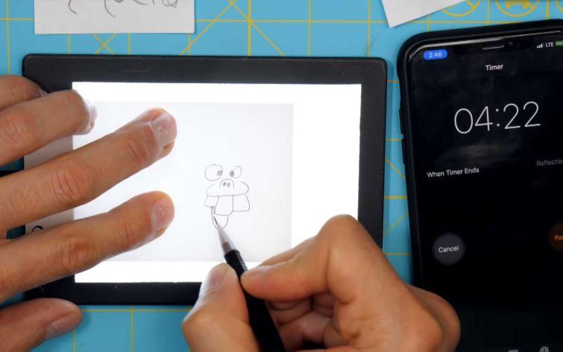 Daumenkino innerhalb von 5 Minuten zeichnen