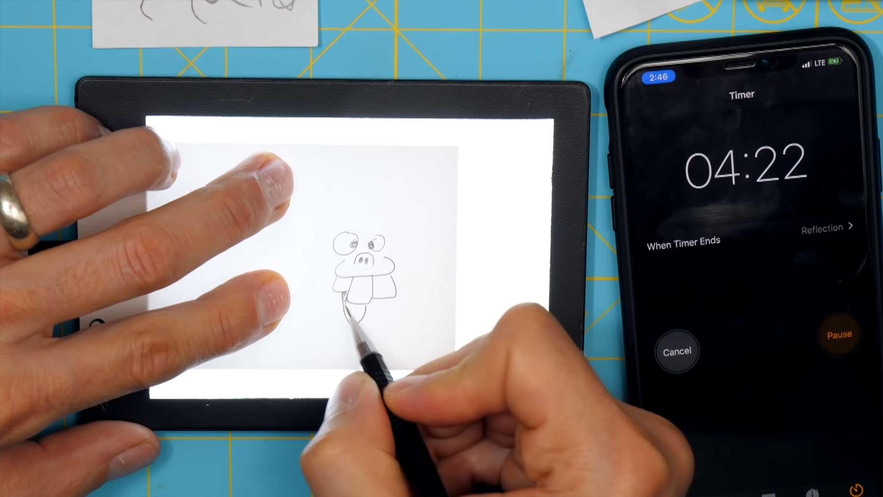 Daumenkino innerhalb von 5 Minuten zeichnen daumenkino-in-5-minuten-zeichnen