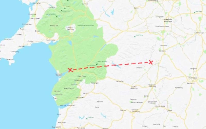 Brite will Wales in absolut gerader Linie durchlaufen