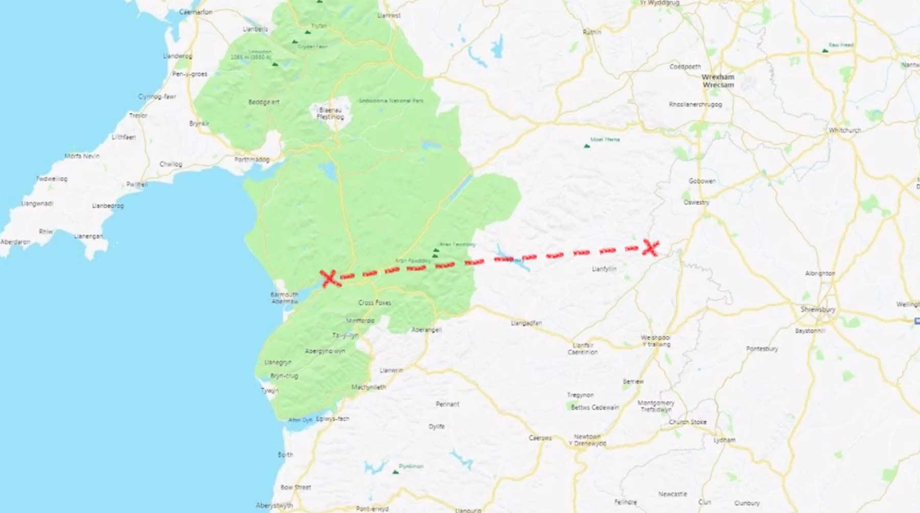 Brite will Wales in absolut gerader Linie durchlaufen ganzes-land-in-gerader-linie-durchqueren