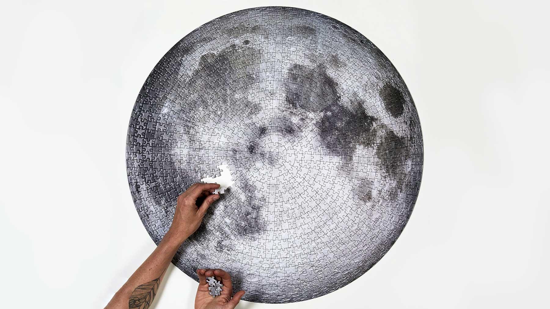 Mond-Puzzle & -Pinnwand