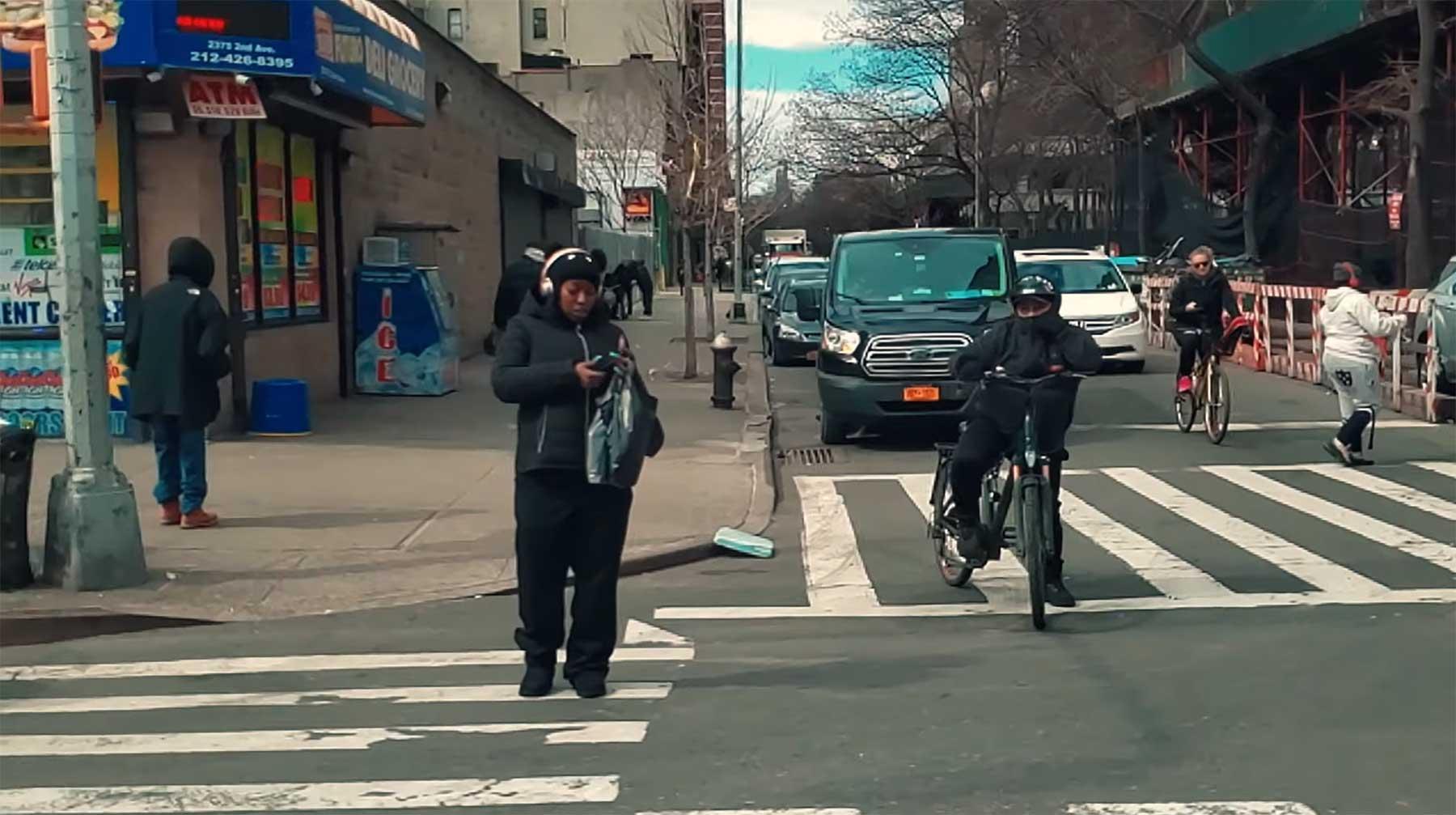 Eingefrorenes New York City dank Superzeitlupe