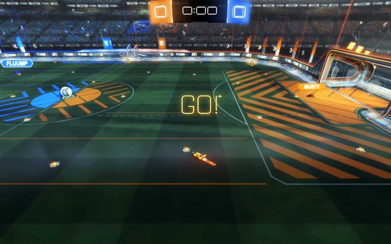 Rocket League aus der Ego- und Fifa-Seitenlinien-Perspektive