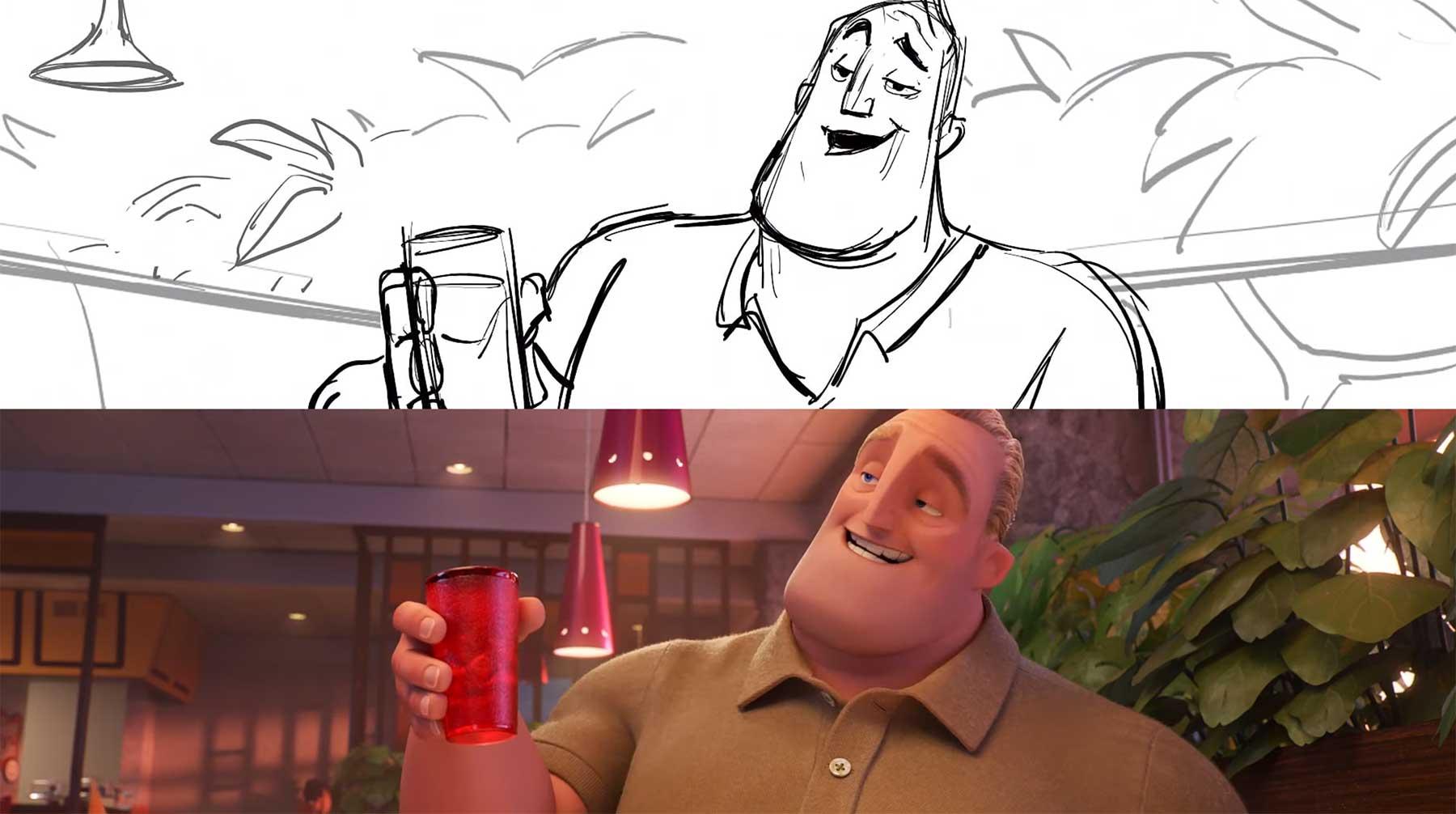 """Von Storyboard zur finalen Szene: """"Die Unglaublichen 2"""""""