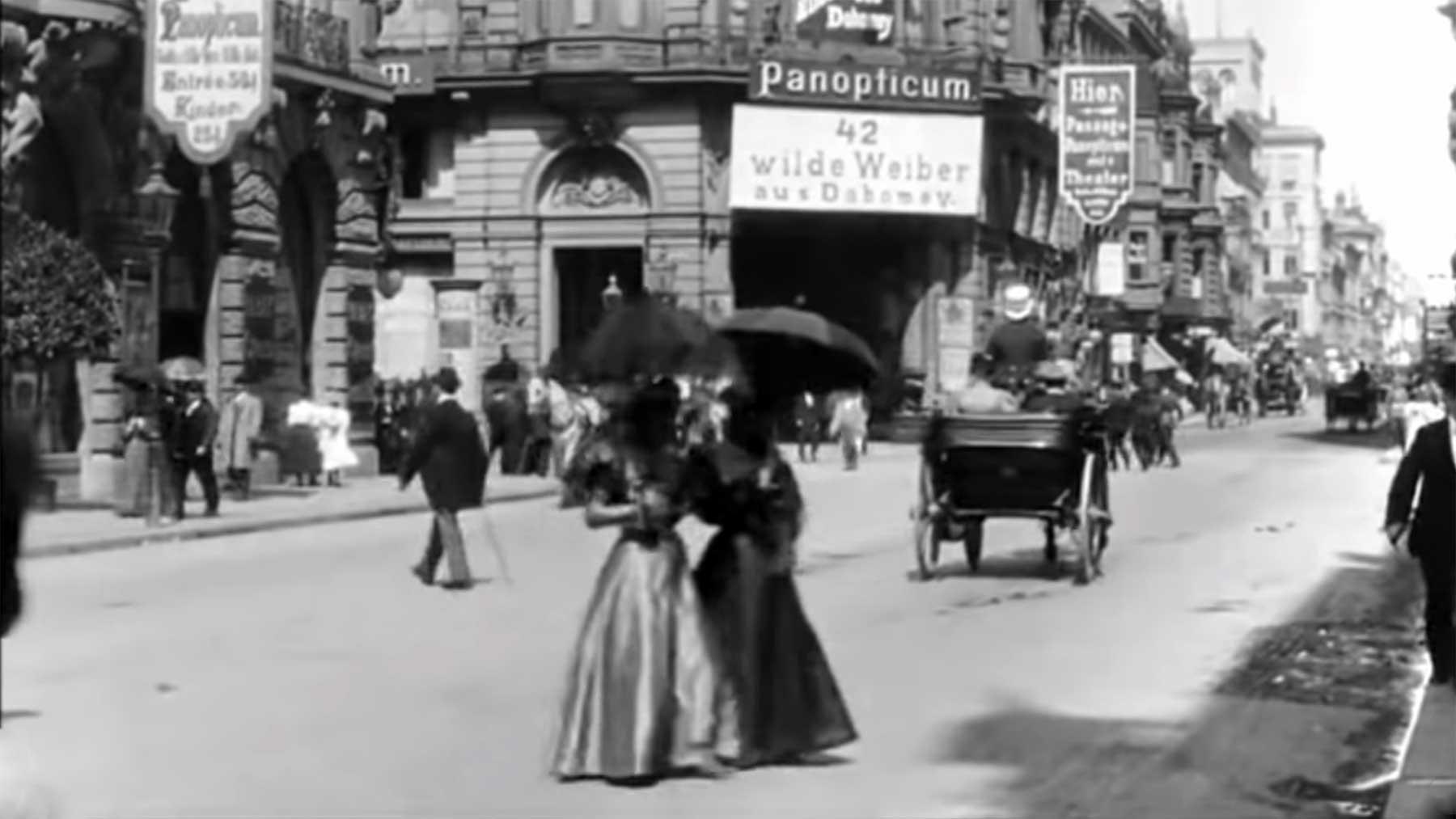 Die Berliner Friedrichstraße im Jahr 1896