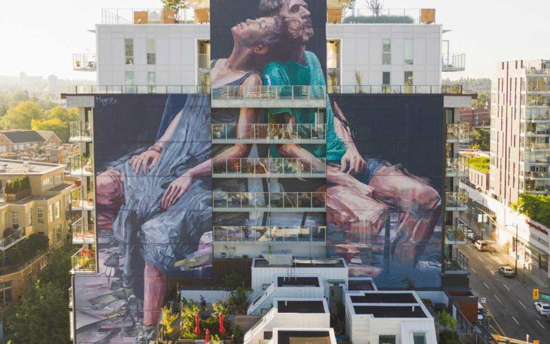 Neue gigantische Murals von Fintan Magee