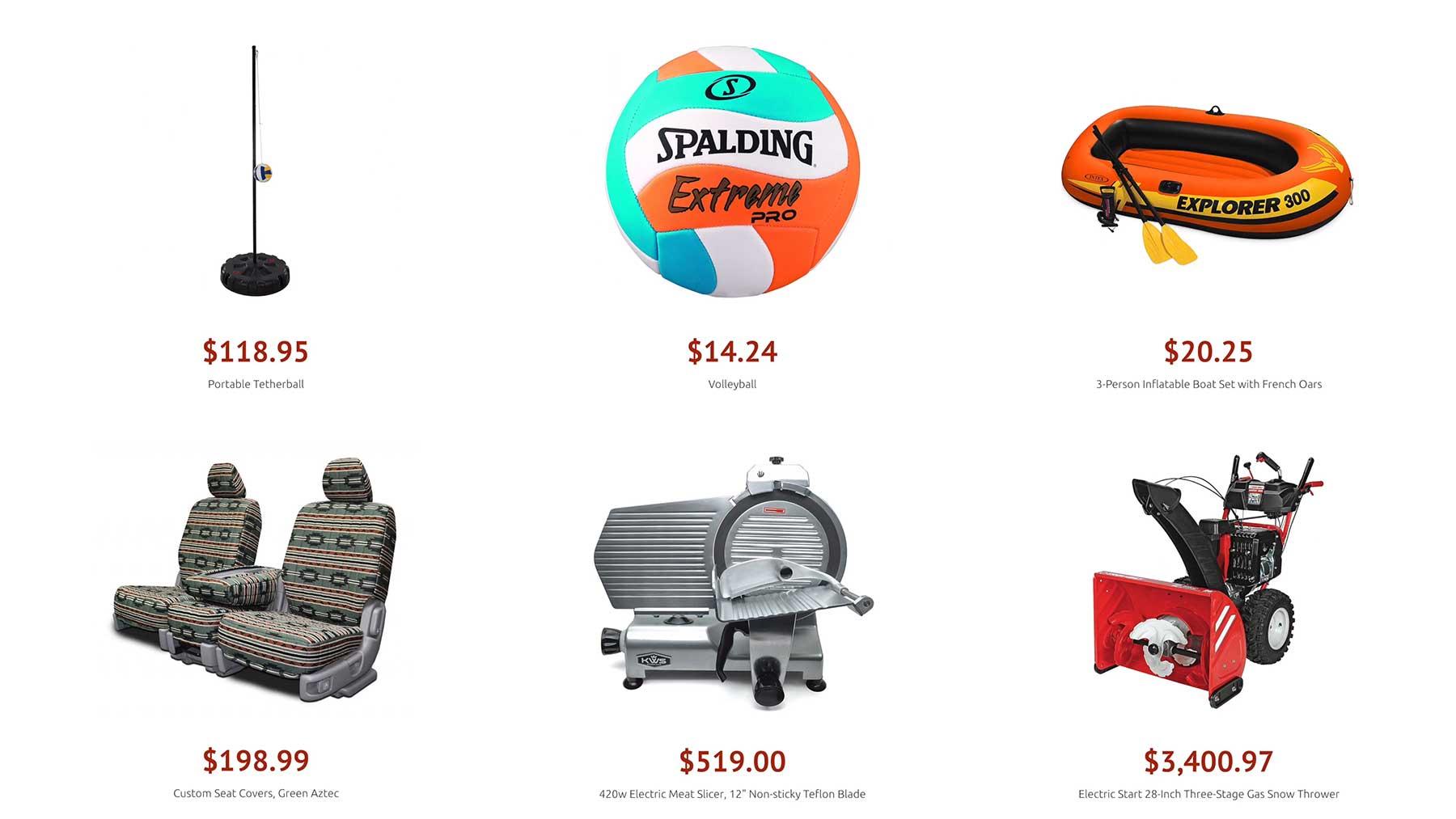 Dieses Video zeigt etliche Amazon-Produkte nach Preis sortiert
