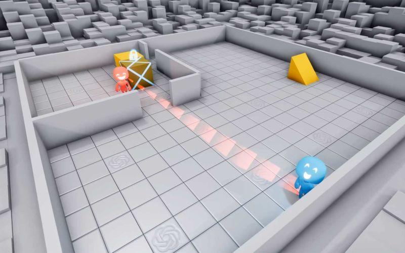 Künstliche Intelligenzen lernen Verstecken-Spielen