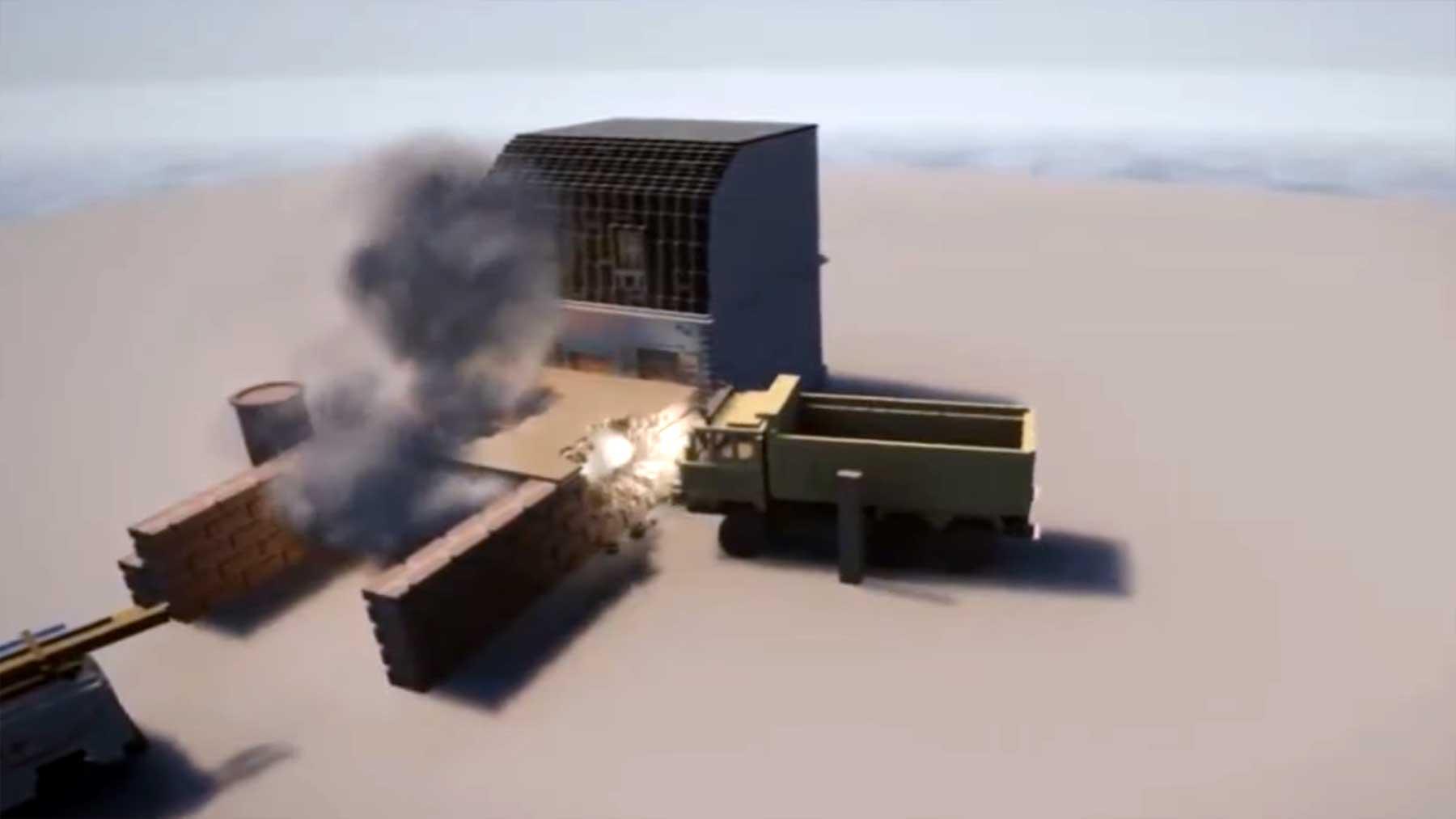 Beeindruckende Videospiel-Zerstörungs-Physik-Engine physics-engine-Dennis-Gustafsson