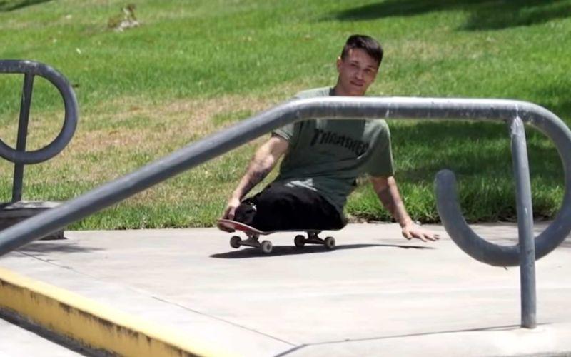 Felipe Nunes ist ein Skateboarder ohne Unterbeine