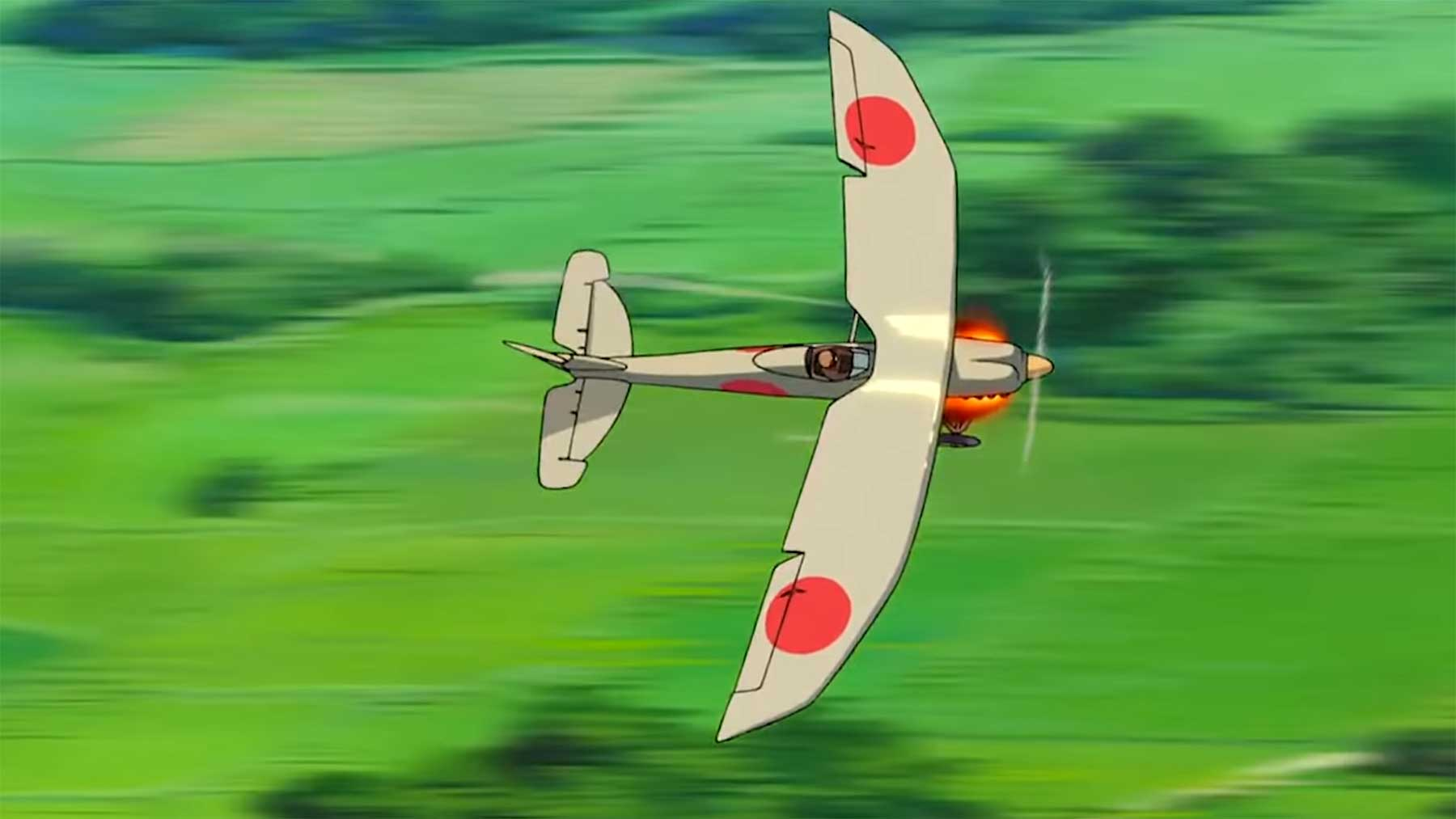 Die animierten Flugzeuge von Anime-Regisseur Hayao Miyazaki
