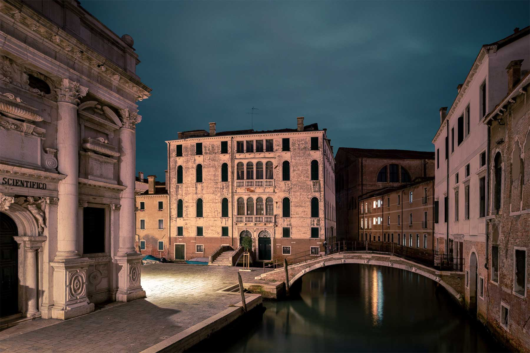 Menschenleeres Venedig