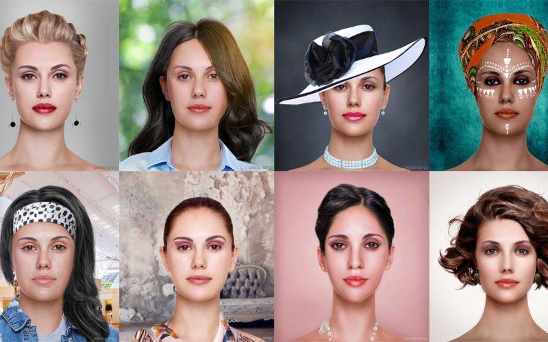 27 Designer haben Portraits nach den Trend-Looks ihrer Länder bearbeitet