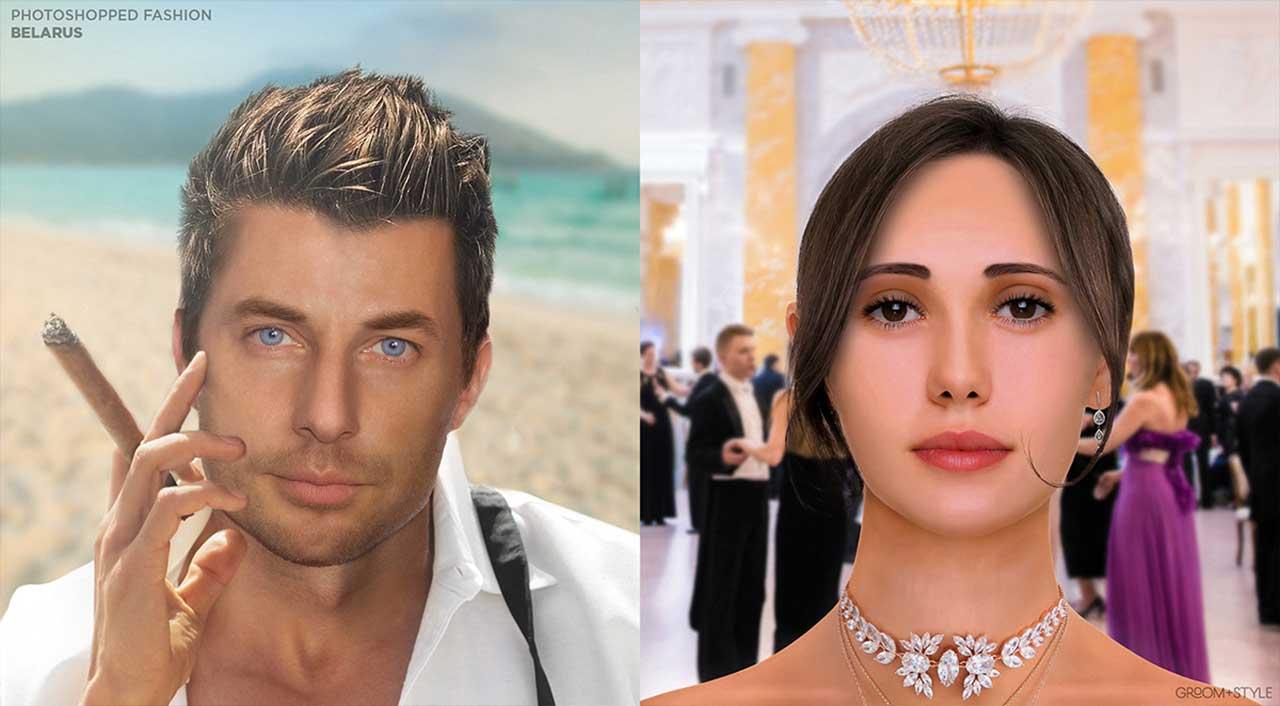 27 Designer haben Portraits nach den Trend-Looks ihrer Länder bearbeitet Photoshopped-Fashion_04
