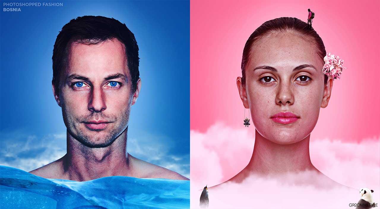 27 Designer haben Portraits nach den Trend-Looks ihrer Länder bearbeitet Photoshopped-Fashion_05
