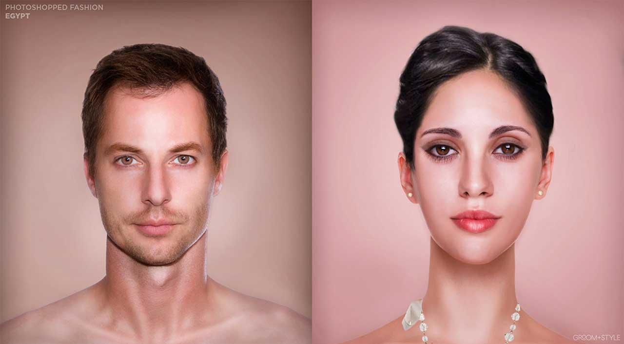 27 Designer haben Portraits nach den Trend-Looks ihrer Länder bearbeitet Photoshopped-Fashion_07