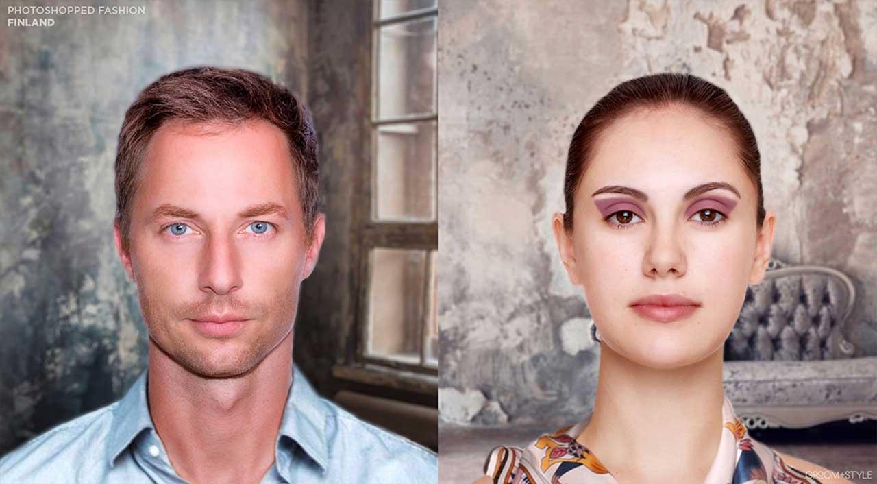 27 Designer haben Portraits nach den Trend-Looks ihrer Länder bearbeitet Photoshopped-Fashion_08