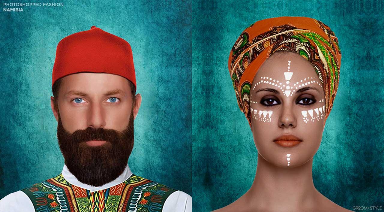27 Designer haben Portraits nach den Trend-Looks ihrer Länder bearbeitet Photoshopped-Fashion_12