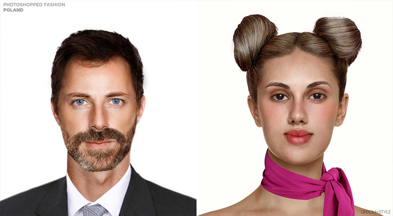 27 Designer haben Portraits nach den Trend-Looks ihrer Länder bearbeitet Photoshopped-Fashion_13