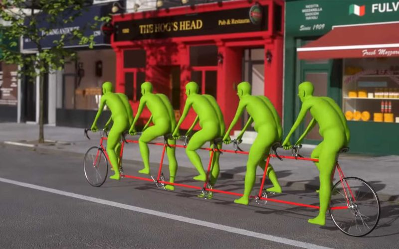 Nur eine ganz normale Fahrrad-Animation