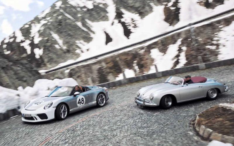 Drohne begleitet Oldtimer über den Gotthard Pass