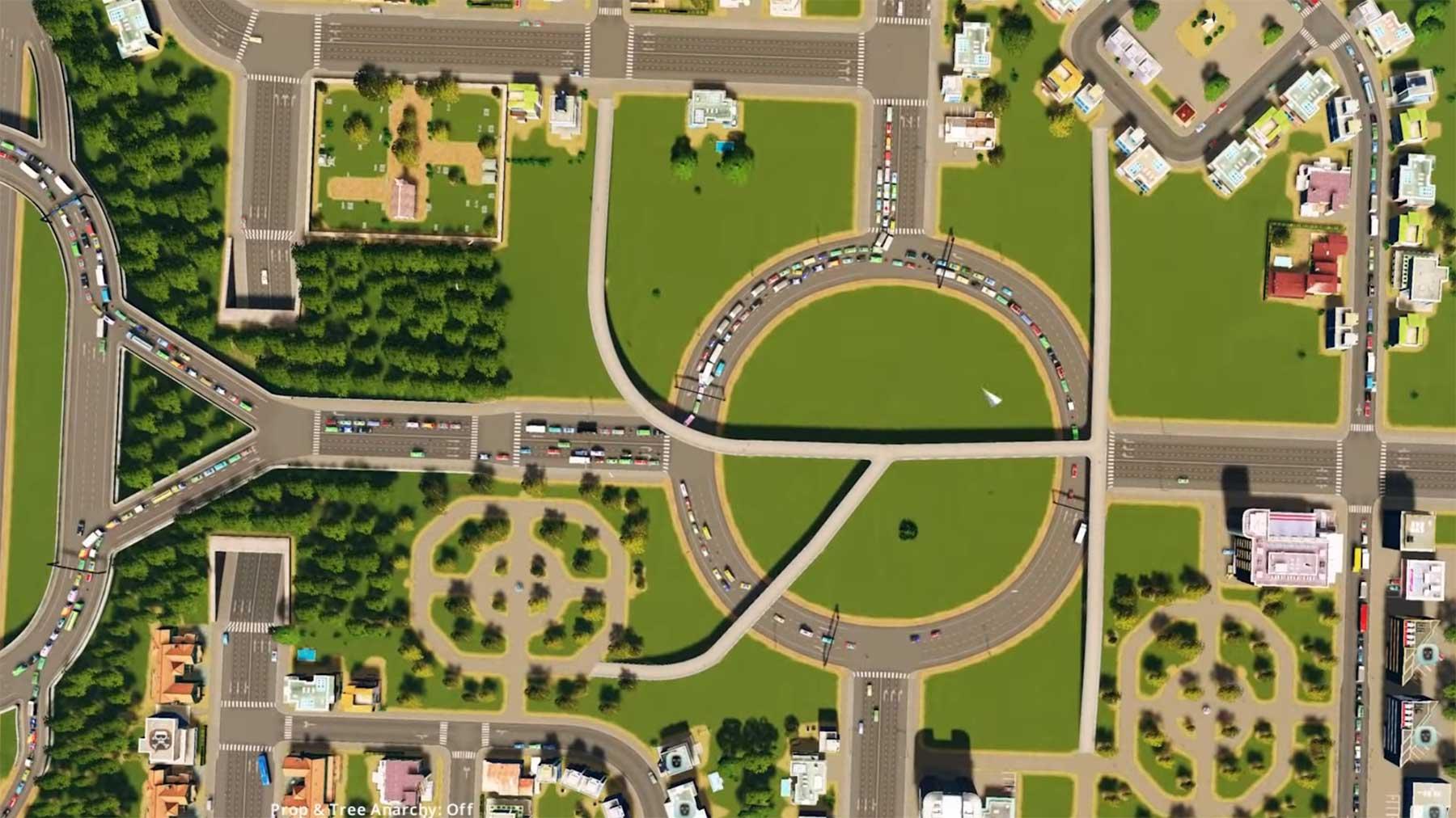 """Zuschauen, wie jemand den Verkehr einer Stadt in """"Cities Skylines"""" repariert"""