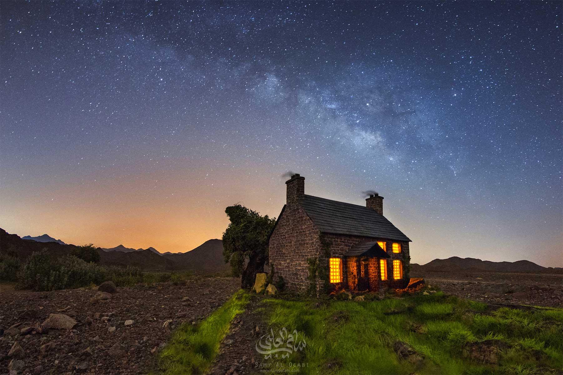 Miniaturhäuser unterm Sternenhimmel abgelichtet miniatur-Samy-Al-Olabi_01