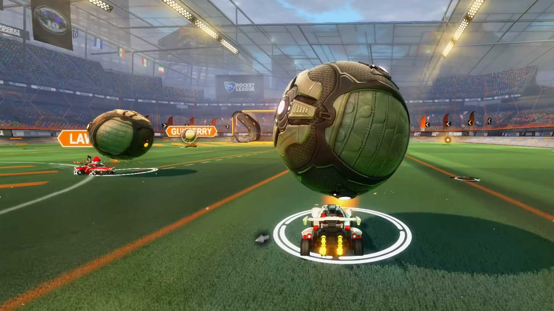 Rocket League: Ball-Hochhalten im Team-Fight