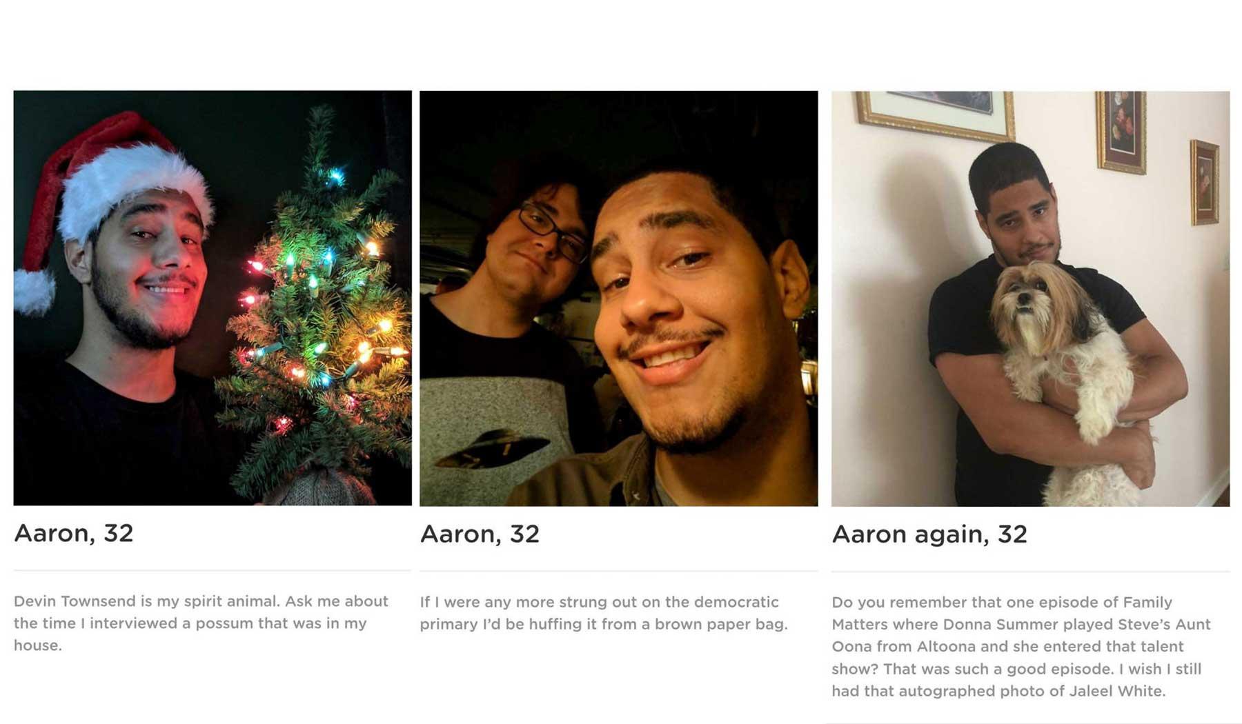 Typ erstellt Dating-App, die ihn als einzigen Mann etliche Male zeigt